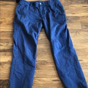 Vineyard Vines Blue Khaki Pants Slim Fit